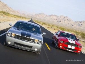 Dodge Challenger SRT8 (2008) vs. Ford Mustang Shelby GT500 (2008)